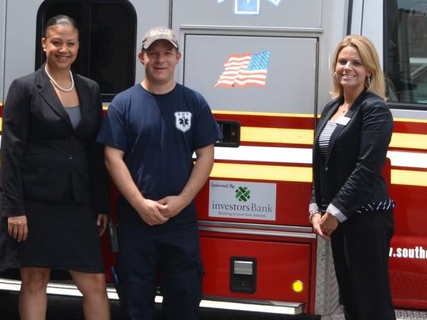 Lissette Morales, Investors Assistant Vice President and Branch Manager, SORS Captain Dan Cohen, and Kristen L. Koscielak, Investors personal banker