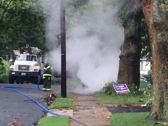 Fire on Oakland Road