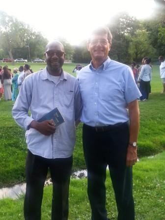Rev. Thomas Ellis and Mayor Vic DeLuca