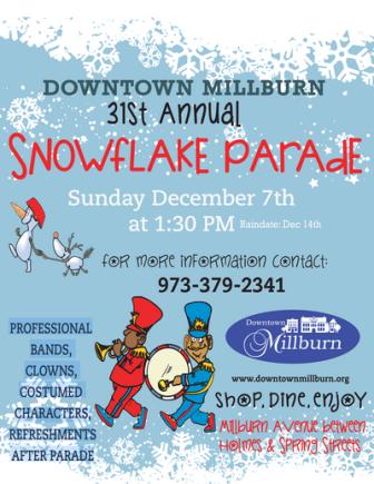 snowflake parade millburn