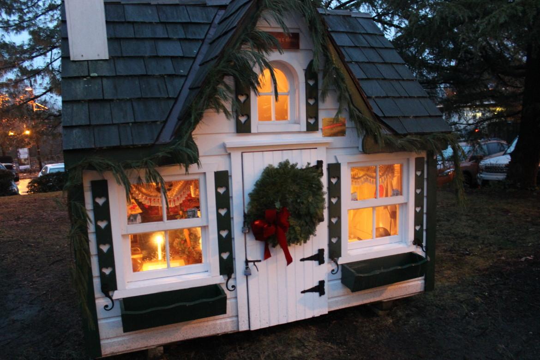 Dickens Village at Night 2014