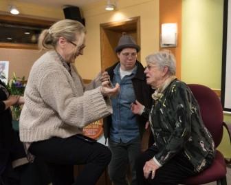 Meryl Streep and Ann Roth at Maplewood Ideas Festival. Credit Joy Yagid