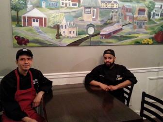 Chefs Mario Valadez Trevino and Johangel Rosario