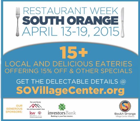 Restaurant Week South Orange Nj