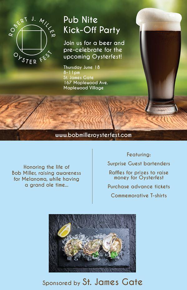 Bob Miller Oyster Fest Pub Nite Kickoff June 18