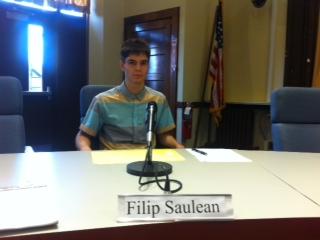 Alternate Student Representative to the Board of Education Filip Saulean, Columbia High School Class of 2017