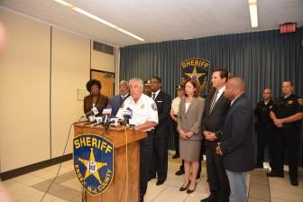 Essex County Sheriff Armando Fontoura announces body cameras for patrol officers.