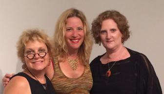 Exhibition curators, Susan Napack, Susan Evans Grove, Sylvia Taylor Photographed by Luis Alves
