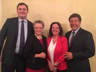 Maplewood Township Commitee candidate Greg Lembrich, Assemblywoman Mila Jasey, Maplewood Township Committee candidate Nancy Adams and Assemblyman John McKeon