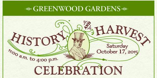 Greenwood Gardens History and Harvest Celebration