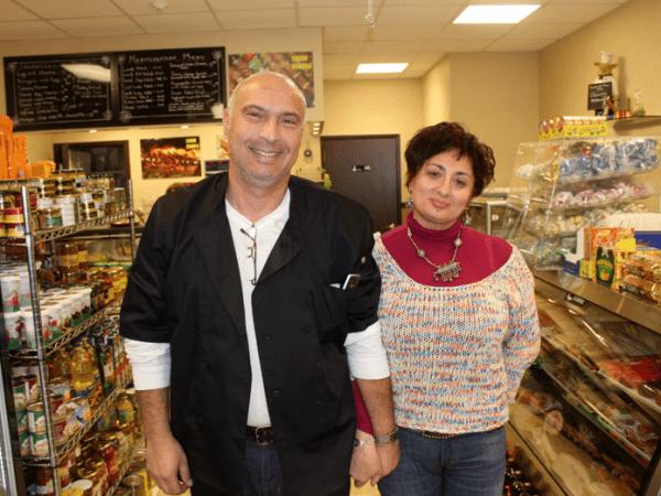Aziz Ismailov and Nargiz Kazimova, co-owners of Nargiz Deli & Cafe