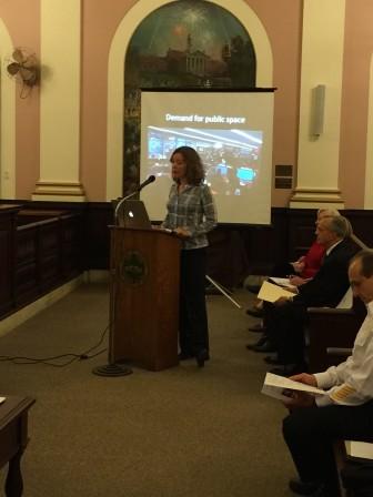 Library Trustee President Kate McCaffrey