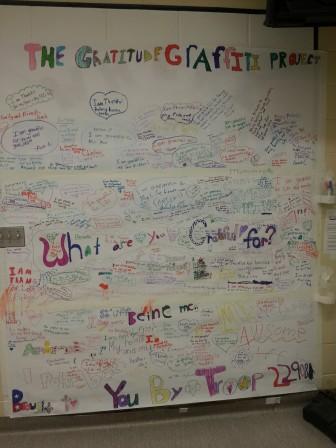 Clinton School Gratitude Graffiti Project