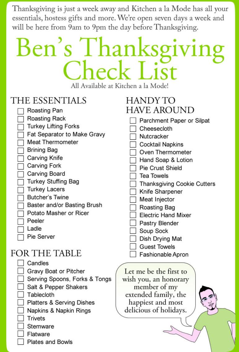 Thanksgiving Potluck List Of Foods