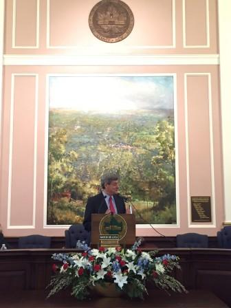 Mayor Vic DeLuca at the January 1, 2016 Reorganization Meeting
