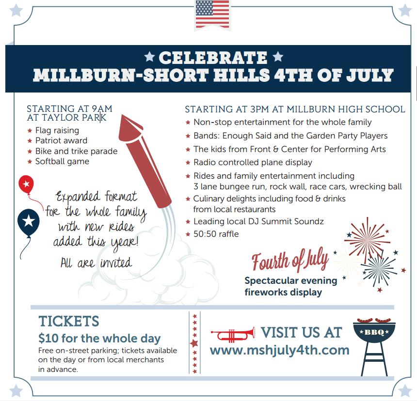Millburn Township 4th Of July Celebration The Village Green