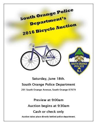 2016 South Orange Bike Auction
