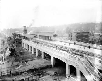 South Orange Train Station during construction, courtesy of Thomas Vilardi