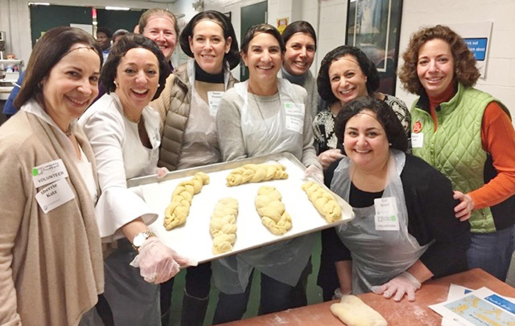 Challah bake at community food bank