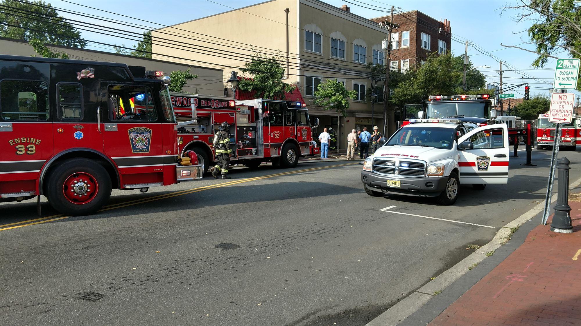 Photos Fire Closes Springfield Avenue Near Prospect The