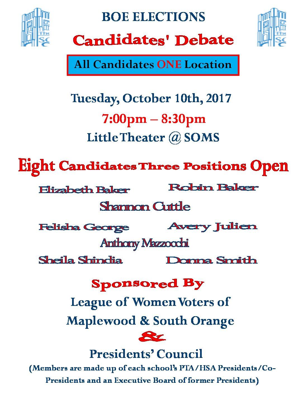 boe election candidates u0026 39  debate