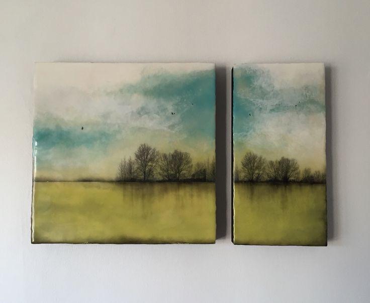April Calendar Pieces : Encaustic painting workshop beginner the village green