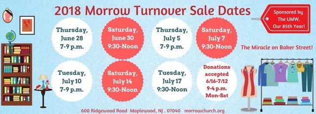 Legendary Morrow Turnover Sale Returns June 28-July 17