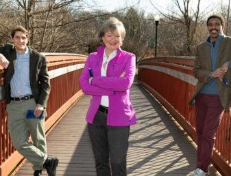 Portrait of Karen Hartshorn Hilton, Bill Haskins and Braynard 'Bobby' Brown