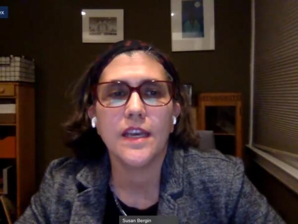 Screenshot of Susan Bergin